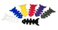 EMS Free shipping Hot sale Fish Silicone Rubber Headphone Cable Winder/Holder for MP3 MP4 headphone 50pcs/lot
