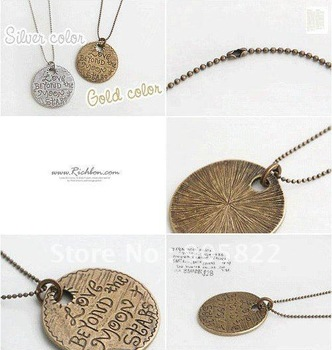 LOVE Medallion pendant necklace/ Brand New Mixed Style Gift Necklace(X-35)