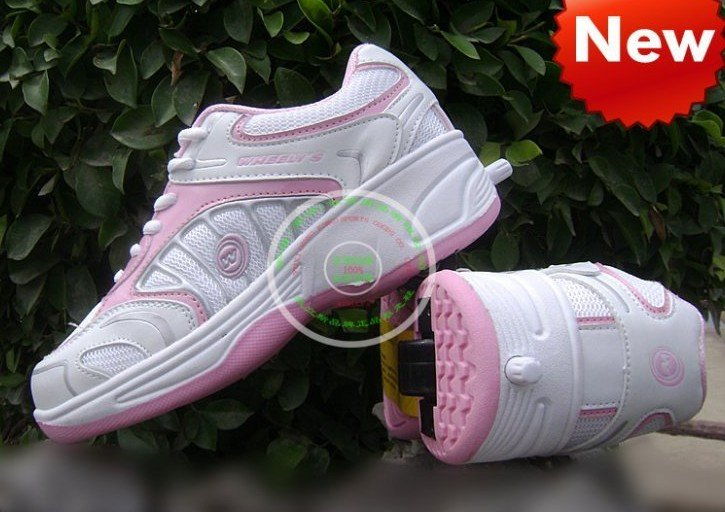 Free shipping Multi-function Heelys Shoes Roller Skate Boys Girls Shoes 3 Colors 1 pair equals to four pairs(China (Mainland))