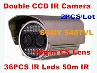 540TVL Double CCD Camera 04,Security IR Weatherproof Camera  16mm CS Lens 36PCS IR Leds 50m IR Camera,2pcs/lot
