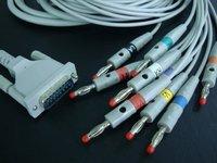 Schiller one-piece EKG cable,10 leads,banana4.0,AHA