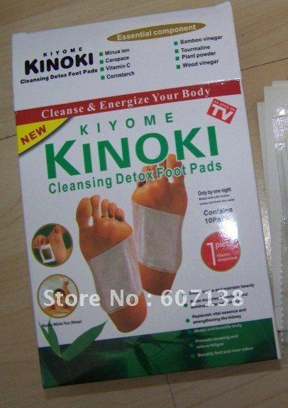 Detox Foot Patch Pad Kinoki Brand New Free shipping 50 boxs (1boxs=10pcs)/lot 500pcs Pads Patches Kinoki(China (Mainland))
