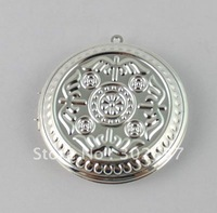 FREE SHIPPING 20PCS Silver Plate Wing Round Locket Pendant 44mm #20396