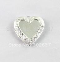 FREE SHIPPING 20PCS Silver Plate Heart In  Heart Locket Pendant 42x40mm #20400