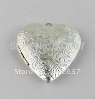 FREE SHIPPING 20PCS Silver Plate Heart Locket Pendant 42x40mm #20403
