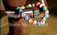 SALE only 1 lot Vintage women charm colorful beaded bracelet charm bracelet for women 2014 new  fashion hot sale