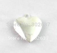 FREE SHIPPING 50PCS Smooth Heart SP Locket Pendant 20mm #20412