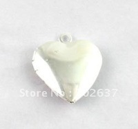 FREE SHIPPING 50PCS Smooth Heart SP Locket Pendant 20mm #20412