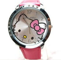 Wholesale New HELLO KITTY Watch For Kid Children Girl Lady Free Shipping G2