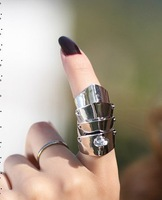 Silver 35mm Long Armor Rings/four Saturn Armor rings /personalit yalloy punk Armor rings/2 color