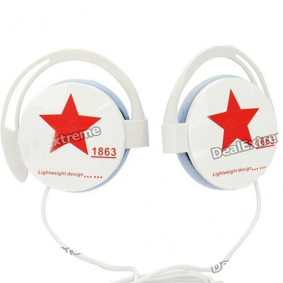 fashion Stereo Headphones - White (3.5mm Jack/90cm Cable) ,10pcs/lot ,free shipping(China (Mainland))