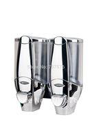 Free Shipping European Style Hi-Q ABS Manual Double lotion dispenser Plastic Soap dispenser TSD20C Full Chrome Capacily 2*400ml