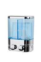 FREIGHT FREE / Free-Haul: European - style Manual Double soap dispenser With Plastic TSD19C Chrome Capacily:2*400ml