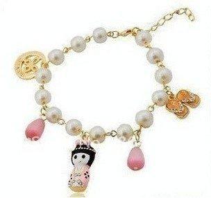 Frete grátis / 12pcs / lot / menina japonesa / pulseira colorida / jóias por atacado / pulseira 22g atacado(China (Mainland))