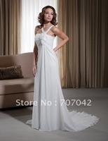 2011 Collection custom-made Chiffon A-line Romantic Bridal gown W012