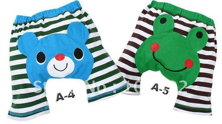 free shipping 90 pcs children animal pp pants girls boys bee panda ladybug frog rabbit pant(China (Mainland))