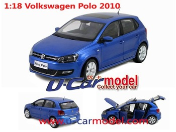 1pcs/lot 1:18 China Volkswagen 2010 New POLO Car model in bule color