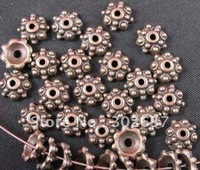 FREE SHIPPING 600pcs Antiqued copper dotted bead caps A664C
