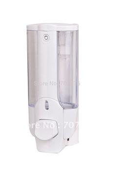 European Style Manual Single Liquid soap dispenser Plastic / ABS 450ML Lotion Dispenser TSD21W  Titanium white