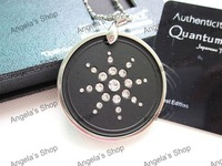 crystal healthy bio negative ion scalar energy quantum pendant  30pcs/lot