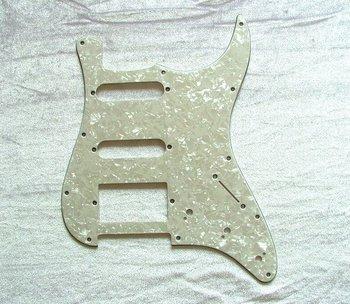 Guitar Pickguard 11 Hole Pearl White