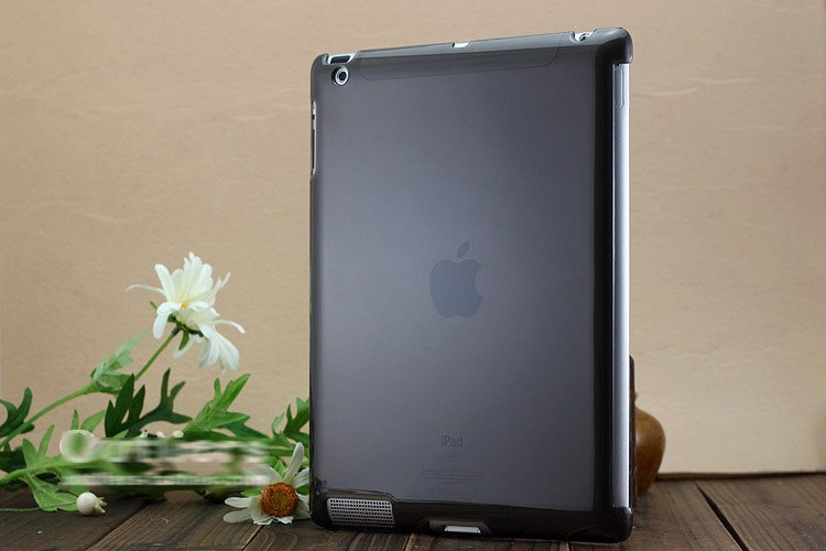 for iPad 2 Back Case/cover Transparent, Snap on back case Free shipping(China (Mainland))