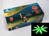 Free EMS! 400pcs Lot  (1BOX=100Bags=200Pcs) Dia:2.2X20mm Big Head Fishing Lighting Stick Wand Green Colour Glow Stick