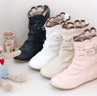 2011 new Europe and the United States increased in shoes , the spring and autumn winter boots shoes with short low boots