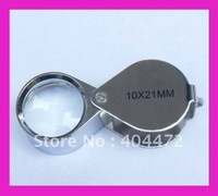 5pcs/lot free shipping  10 x 21mm Glass Jeweler Loupe Eye Magnifier Magnifying with original package