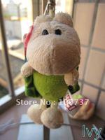 "NICI Pink flower Green spot turtle Key Chain Stuffed 4.5""NEW"