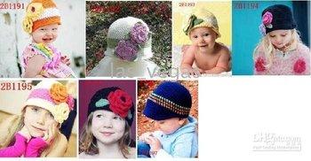 handmade Caps baby knitting hat beanies flower hat baby crochet hats cap embroider Hat dicersiris-