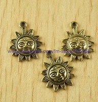 free shipping 56 pcs/lot,wholesale fashion lovely sun charms,antique gold charms,jewelry findings jewelry accessoriesinse