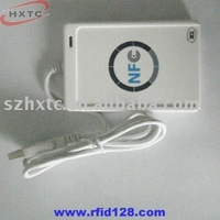 Free  Shipping   ACR122U NFC  IC Card Reader&Writer with  5 PCS 13.56MHZ Mifare  blank Cards for Test