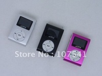 Free shipping 2GB Mini MP3 with LED screen