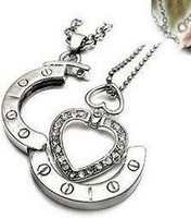 Wholesale and retail charm fashion and beautiful couple necklace Can Open, with the free shipping,20pcs/lot with mix design