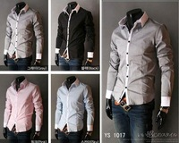 Wholesale Male long-sleeved shirt Slim Korean features collar man's shirt 949
