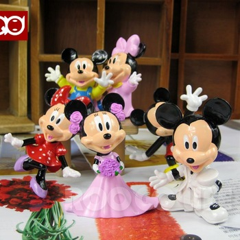 Free Shipping EMS High Quality PVC Mickey mouse toys action figure 6pc/set wholesale