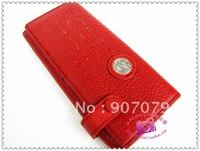 Leather purse female long style pure skin lady purse leather leather wallet female style
