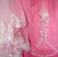 Free Shipping      ivory   wedding veil    one layer cathedral length veils