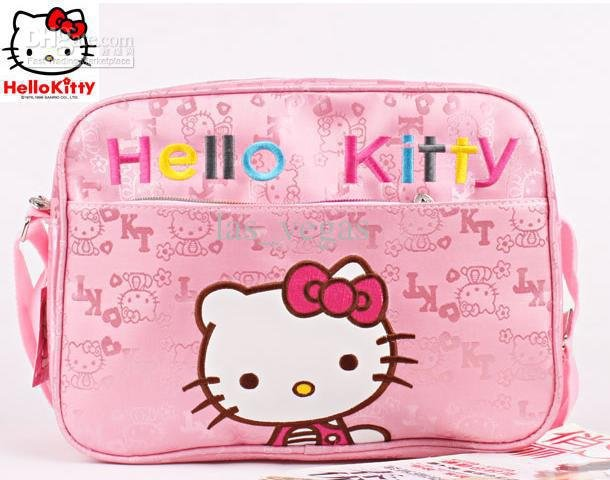 hello kitty bag Children's Aslant bags - -sling bags Kids/baby Cartoon satchel backpacks hk-008iris-(China (Mainland))