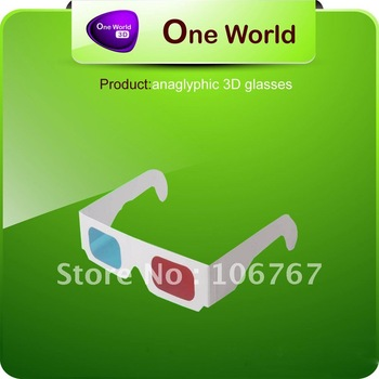 Free Shipping 1000pcs DHL paper anaglyphic 3D glasses