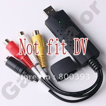 Free Shipping! Easycap USB 2.0 Video TV DVD VHS Capture Adapter with USB CABLE,10pcs/lot(China (Mainland))