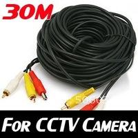 30M 100Ft VIDEO AUDIO AV RCA POWER CABLE FOR CCTV CAMERA DVR