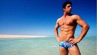 Free shipping(10 pieces) fashion Men's swimwear swimming trunks sexy men's beachwear  Flower color/low waist /low price