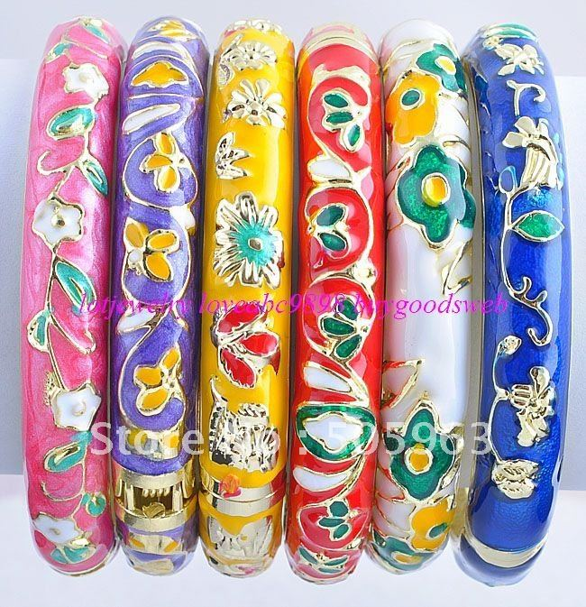 FREE SHIPPING~! 23.15$/ 12strands Wholesale Mix Lots cloisonne bracelets Chains Bangle Charms Beaded Fashion jewelry(China (Mainland))