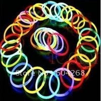 100pcs/1 Lot hot glow led flashing lighting bracelet glow sticks Free Shipping