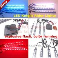 Colorful RGB 5050SMD LED Knight Rider Lights Remote control 12V car Strobe flash warning decoration light lamp Waterproof