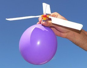 free shipping wholesale Balloon Powered Helicopter Toy Gadget- FUN/Children Toys/Self-combined Balloon Kids Toy(China (Mainland))