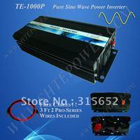 Free Shipping 1000W Pure sine wave power inverter dc 12v ac 230v
