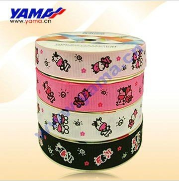 "Cattle Printed Grosgrain Ribbon Customized Printed Ribbon 5/8"" Cartoon Ribbon negotiable price(China (Mainland))"